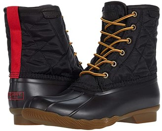 Sperry Saltwater Duck Nylon Boot (Black) Shoes