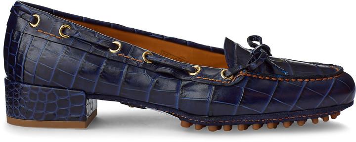 Ralph Lauren Lyssa Embossed Calfskin Loafer