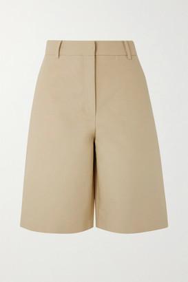 LVIR Cotton-poplin Shorts - Beige
