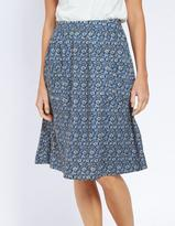 Fat Face Effie Jacquard Floral Skirt