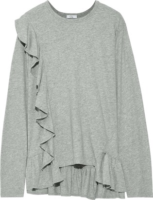 Clu Ruffled Cotton-jersey Top