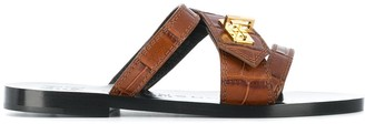 Givenchy Leather Wrap Sandals