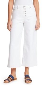 Nine West Women's Sophia High-rise Wide Leg Cropped Jeans