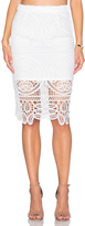 J.o.a. Lace Midi Skirt