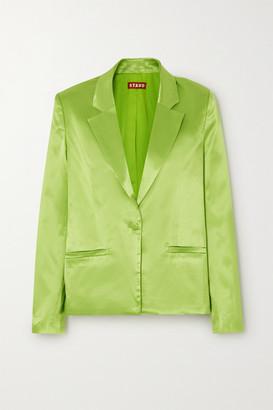 STAUD Madden Sateen Blazer - Bright green