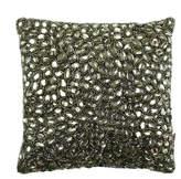 Aviva Stanoff Jewel Bed Cushion 25x25cm - Beetle Green