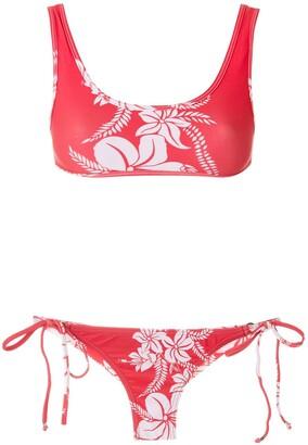AMIR SLAMA Floral-Print Bikini Set