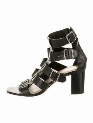 Loeffler Randall Leather Gladiator Sandals Black