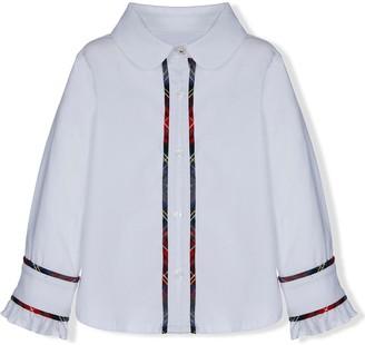 Lapin House Contrast-Trim Ruffled-Cuffs Shirt