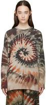 Valentino Multicolor Tie Dye Cashmere Sweater