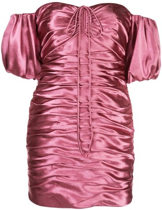 Cinq à Sept Tati satin ruched mini dress