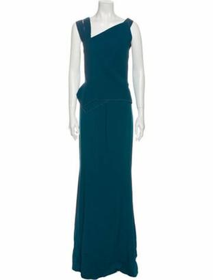 Roland Mouret One-Shoulder Long Dress Green