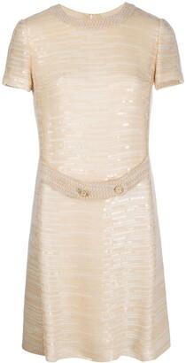 Chanel Pre Owned 1990s Sequin-Embellished Dress