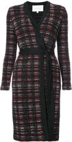 Carolina Herrera plaid knitted cardi-coat