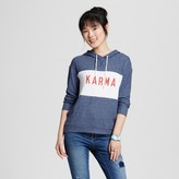 Well Worn Women's Karma Soft Brushed Leisure Pullover Sweatshirt Navy Blue - Well Worn (Juniors')