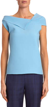 Roland Mouret Raywell Draped Cap Sleeve Top