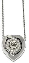 Jordan Askill Pavé Diamond Heart Locket Necklace - Sterling Silver