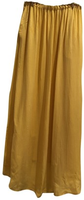 American Vintage Yellow Silk Skirt for Women