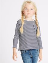 Marks and Spencer Cotton Rich Striped Long Sleeve Top (3 Months - 5 Years)