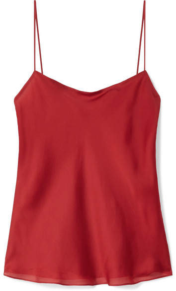 The Row Biggins Matte Silk-satin Camisole - Claret