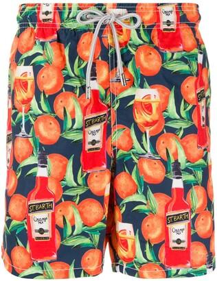 MC2 Saint Barth Fruits-Print Swim Shorts