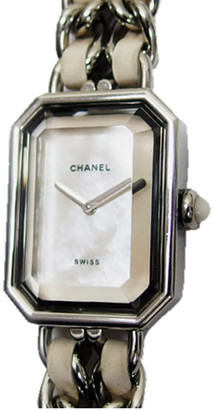 Chanel MOP Stainless Steel and Rubber H1639 Women's Wristwatch 19.5MM X 15MM
