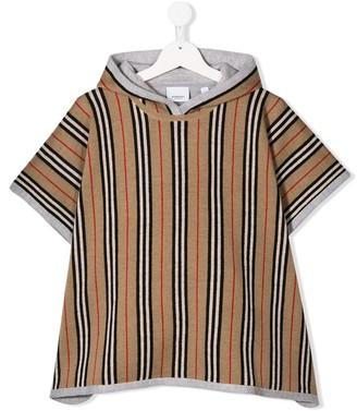 Burberry Icon striped poncho