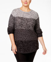 Style&Co. Style & Co Plus Size Ombré Sweater, Only at Macy's