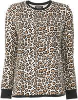 Twin-Set leopard printed top - women - Cotton/Spandex/Elastane - XS