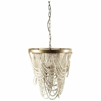 Dakota Fields Margie 3 - Light Unique / Statement Geometric Chandelier with Beaded Accents