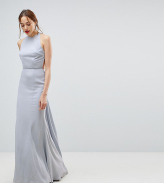 Jarlo Tall Open Back Maxi Dress With Train Detail
