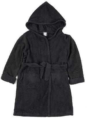 Leveret Boys' Bath Robes Grey - Gray Front-Pocket Tie-Waist Hooded Bathrobe - Infant, Toddler & Boys