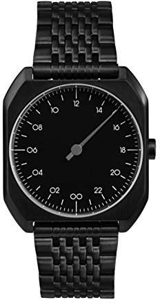 Slow Mo 03 - All Black Steel Unisex Quartz Watch with Black Dial Analogue Display and Black Stainless Steel Plated Bracelet