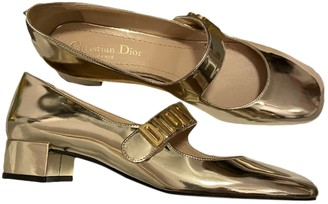 Christian Dior Baby-D Gold Leather Ballet flats