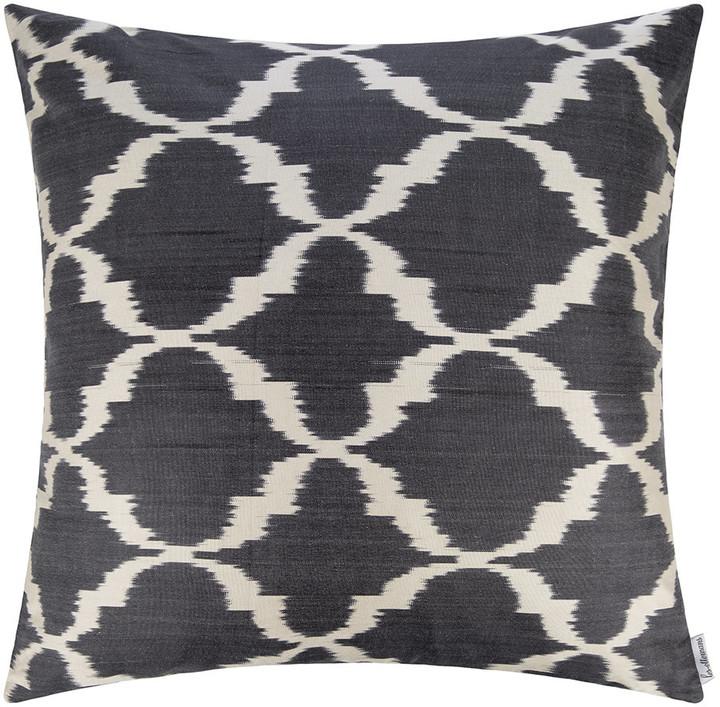 LES OTTOMANS Silk Ikat Cushion - 60x60cm - Blue Pattern