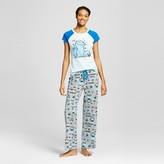 Sesame Street Women's Late Night Munchies Cookie Monster Tee/Pant Pajama Set