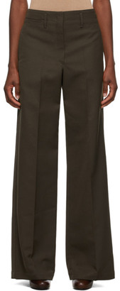 Lemaire Brown Wool Straight Trousers