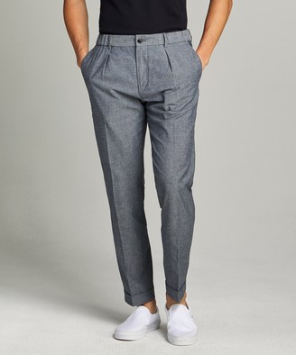 Todd Snyder Black Label Chambray Traveler Suit Trouser in Indigo