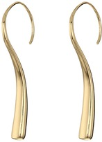 Robert Lee Morris Gold Curved Stick Earrings