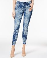KUT from the Kloth Floral-Print Indigo Wash Skinny Ankle Jeans