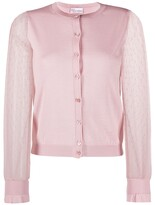 RED Valentino point d'Esprit tulle cardigan