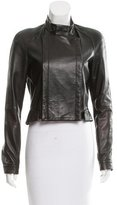 Herve Leger Aaliyah Leather Jacket