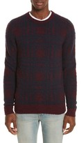 Norse Projects Men's Sam Intarsia Check Wool Sweater