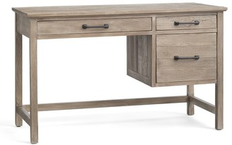 "Pottery Barn Paulsen 49"" Reclaimed Wood Desk with Drawers"