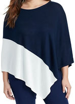 Lauren Ralph Lauren Plus Asymmetrical Silk-Blend Poncho