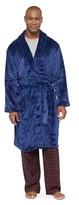 Hotel SPA Men's Velvet Plush Robe Navy
