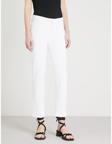 """Paige Hoxton Straight Ankle 27"""" high-rise stretch-denim jeans"""