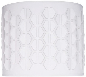 """Off-White 39241 Drum Laser Cut Shaped Spider Lamp Shade, Off-White, 12"""" wide, 12"""