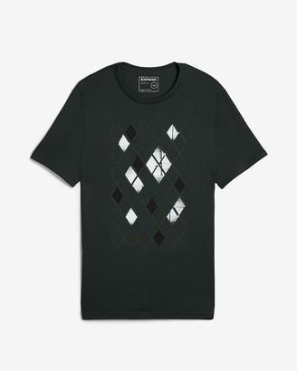 Express Dark Green Tile Graphic T-Shirt