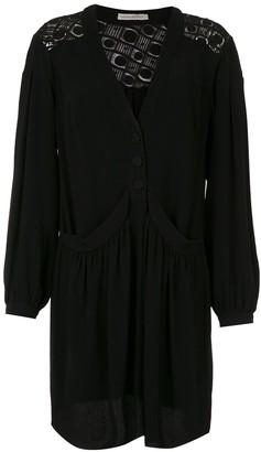 Martha Medeiros long sleeved shirt dress